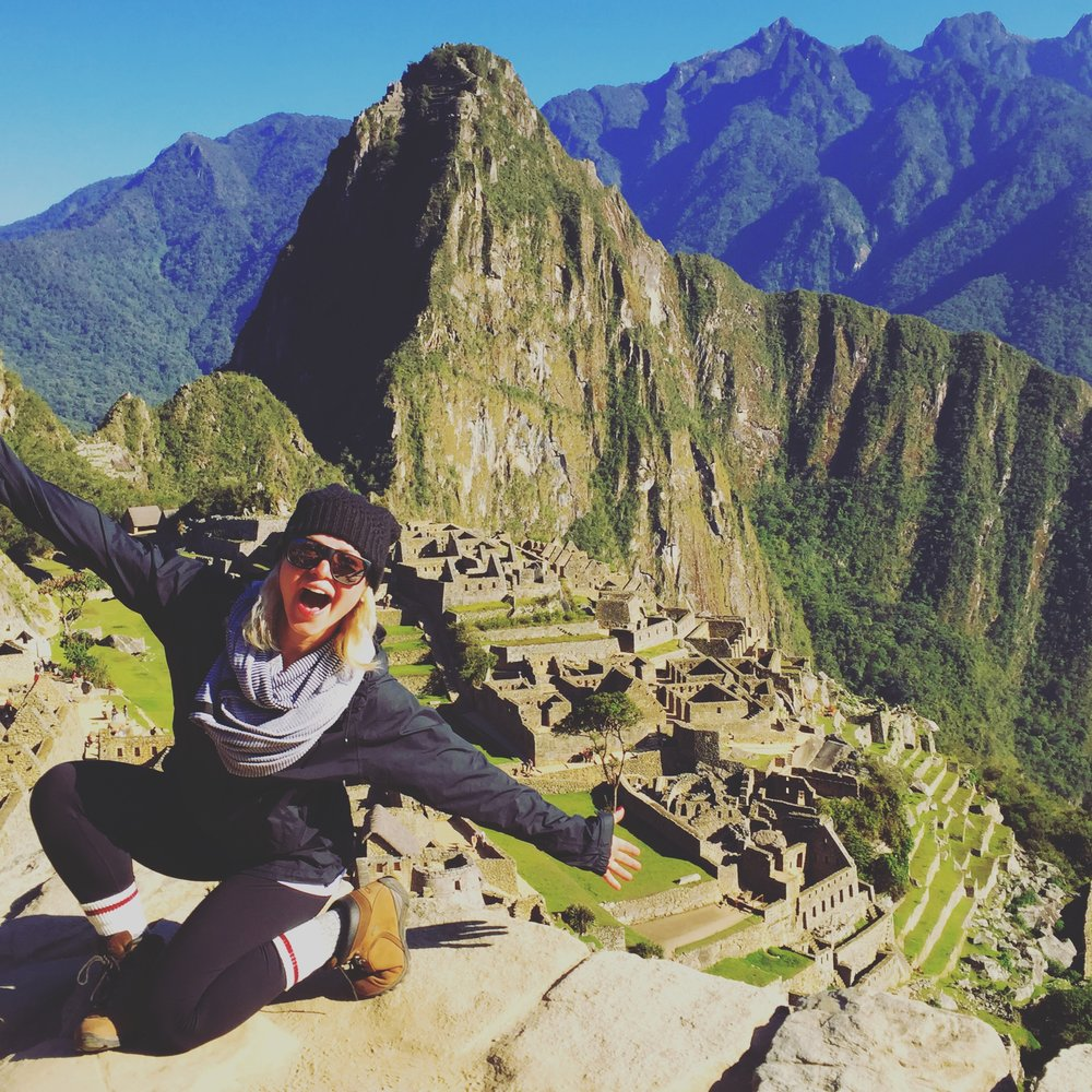 Conquering Machu Picchu after camping/hiking in the mountains of Peru for 5 days.
