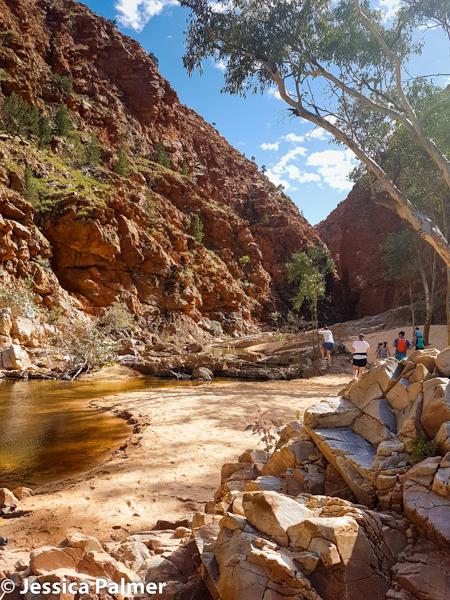 The walk into Redbank Gorge in Central Australia
