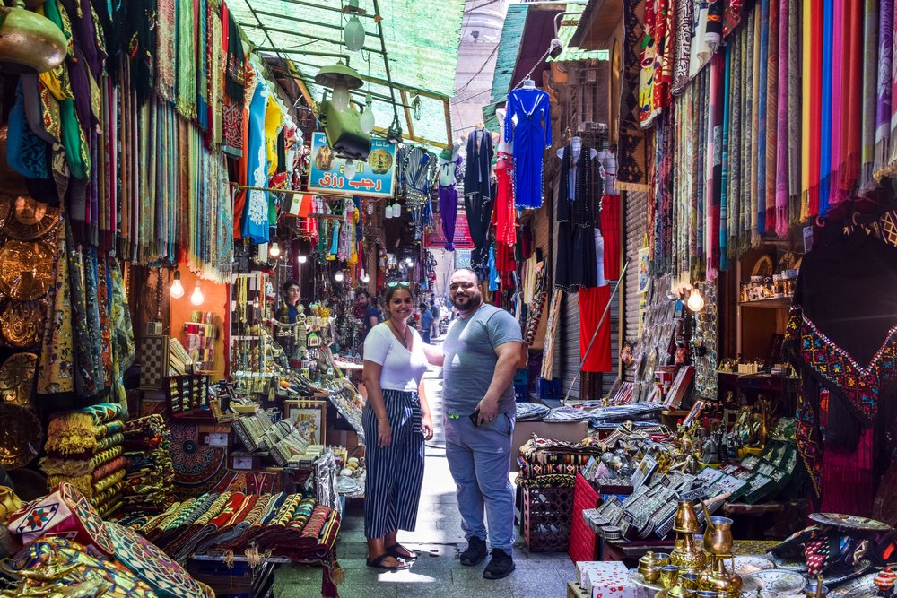 After some haggling and chatting at the market in Cairo, I walked away with some beautiful Egyptian scarves and a new friend in the shop keeper.