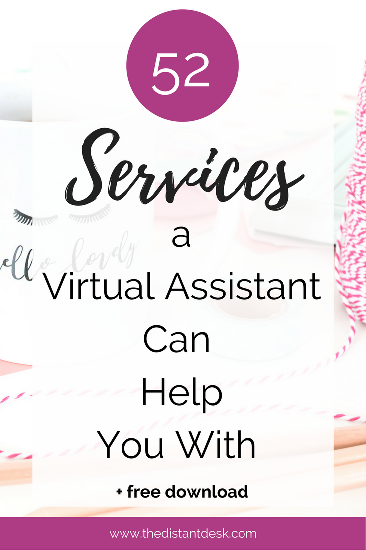 52 Services a VA Can Help You With