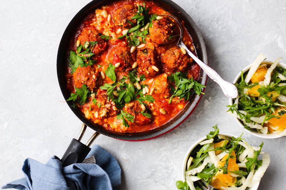 Spicy Tomato Sauce Lamb Meatballs