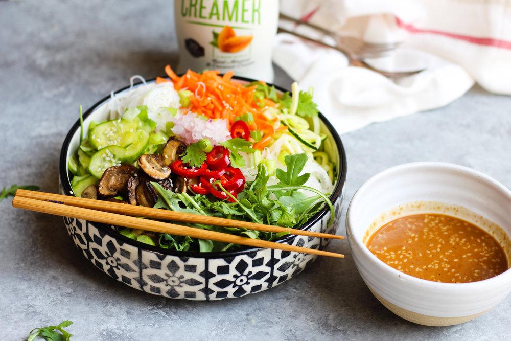 Miso Sesame Ginger Noodle Salad