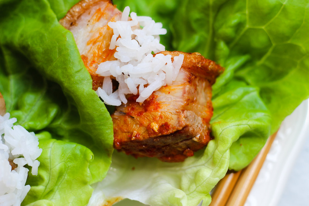 Crispy Pork Belly Wraps