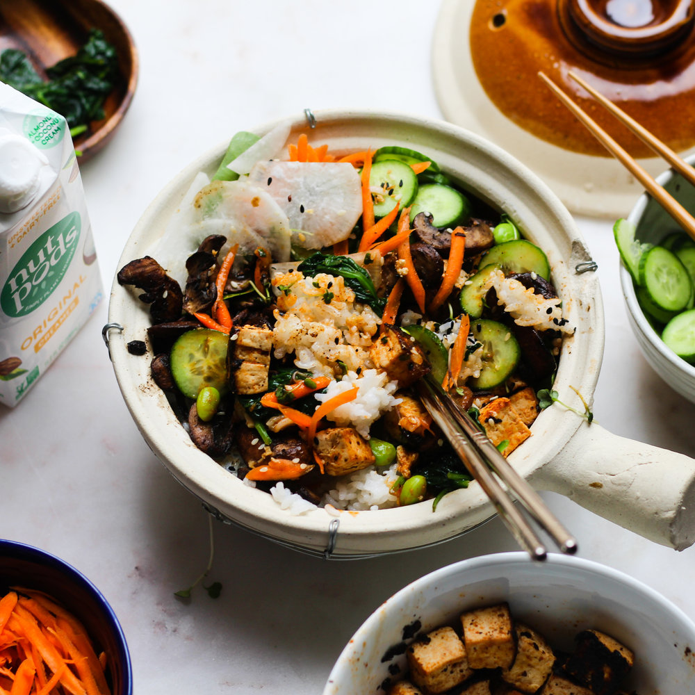 Bibimbap with Spicy Marinated Tofu