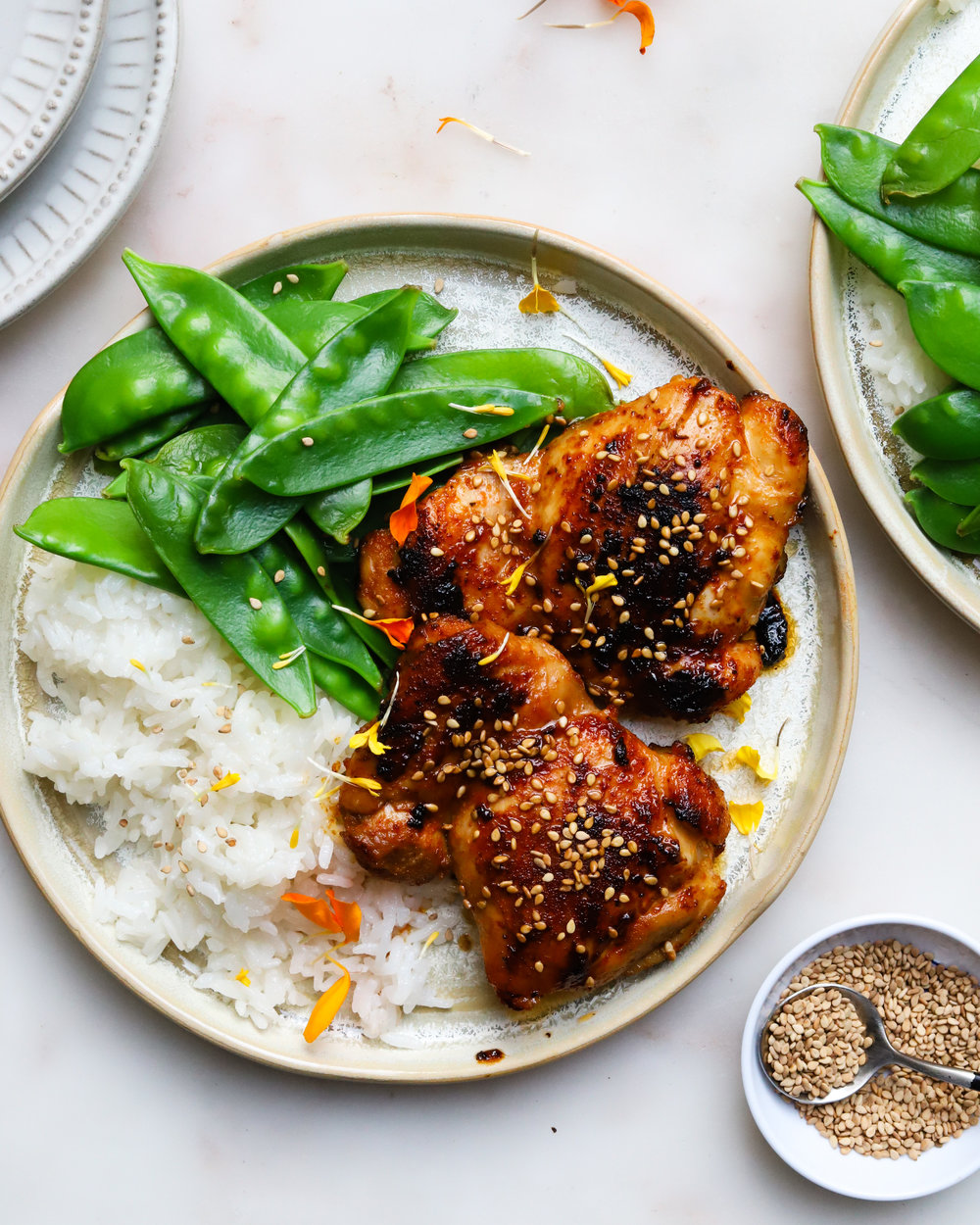 Sriracha & Brown Sugar Sticky Chicken Thighs