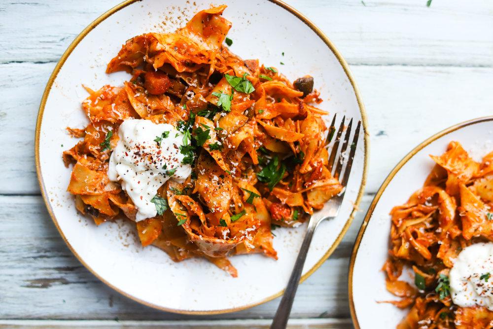 Mushroom Ragu Pappardelle Pasta