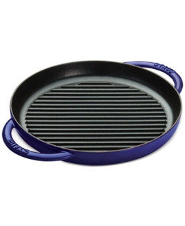 """Staub Enameled Cast Iron 10"""" Round Pure Grill"""