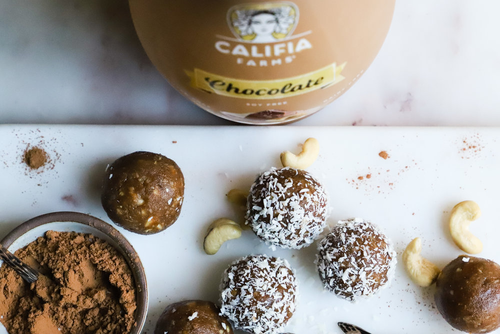 7 Ingredient Chocolate Coconut Bliss Balls