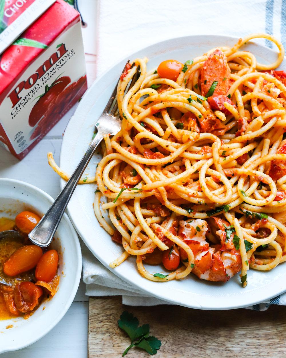 Calabrian Chili Tomato Lobster Pasta