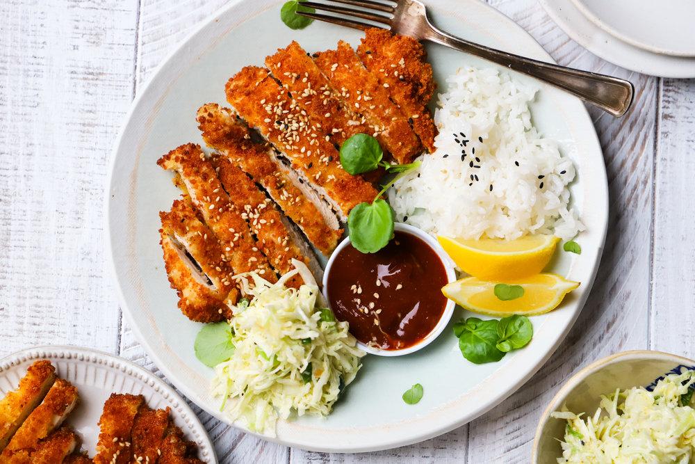 Chicken Katsu with Homemade Tonkatsu Sauce