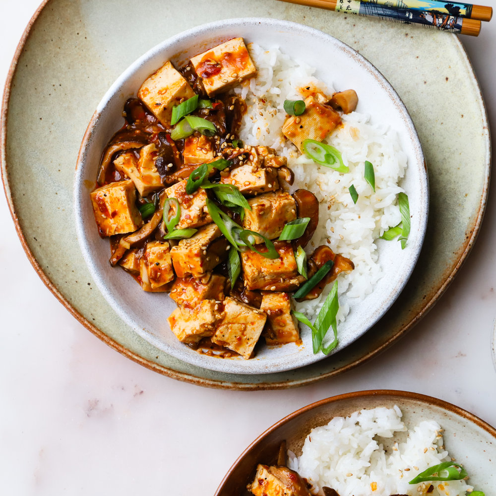 Vegetarian Shiitake Mapo Tofu