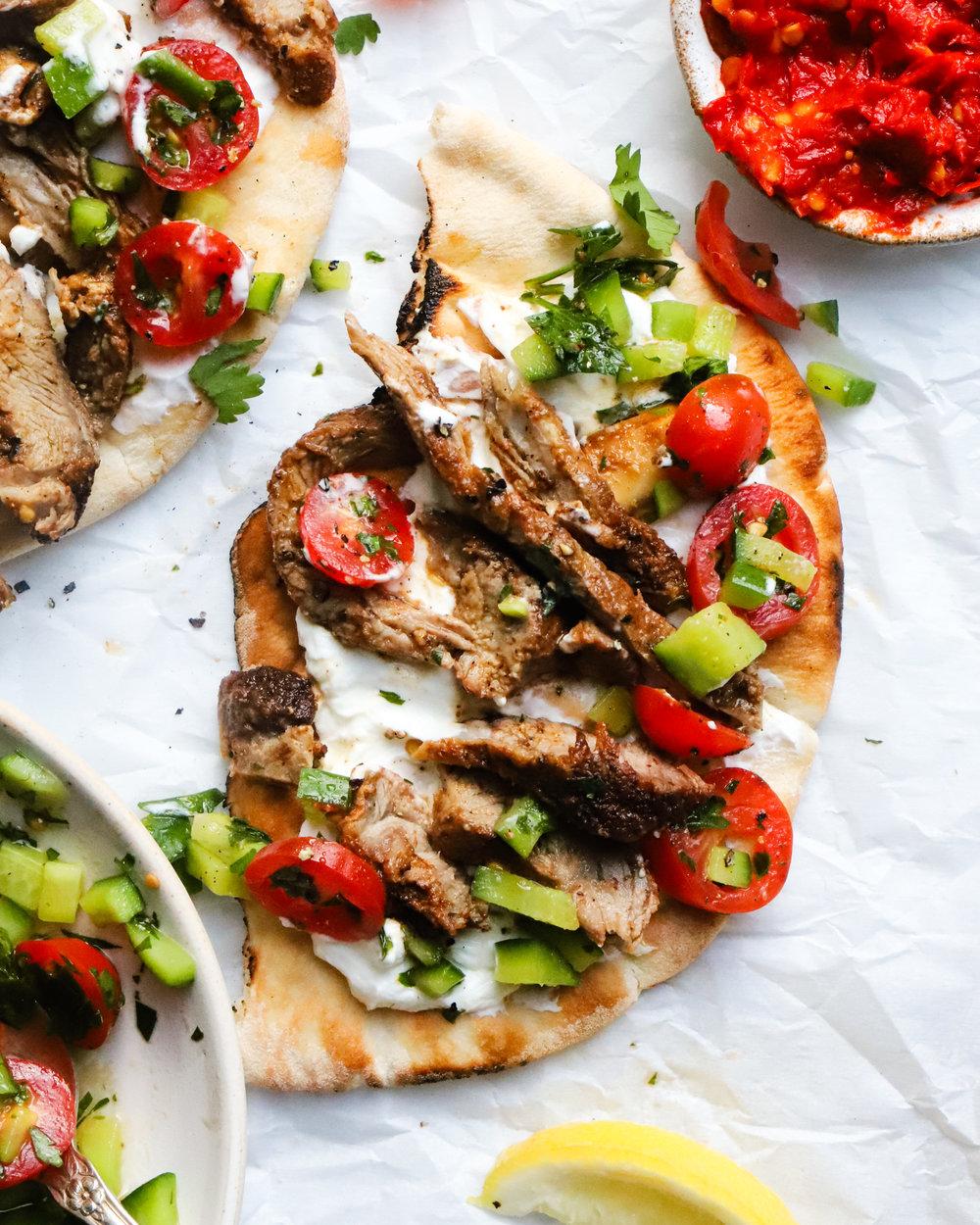 Lamb Shawarma Pitas