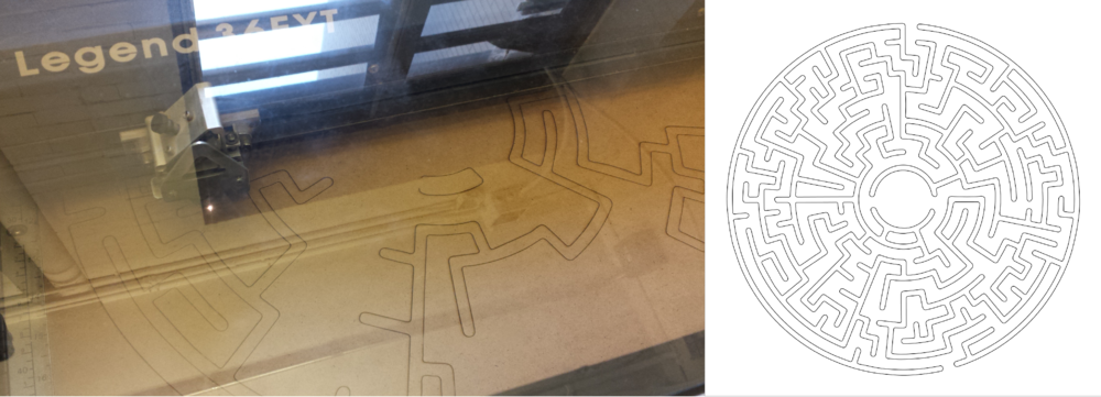 Laser cutting the maze