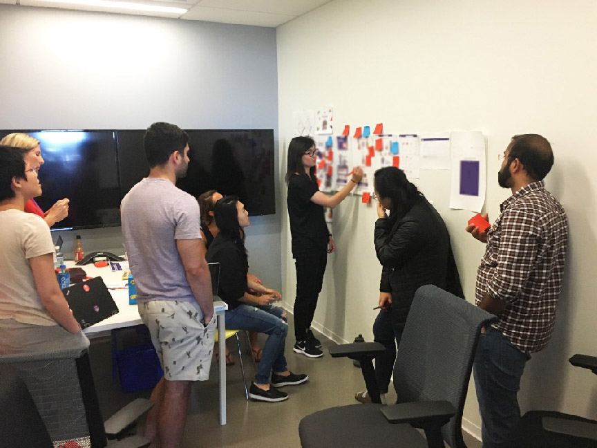 Design Workshop with Fresh Ops Team:  I led workshops introducing the value and fun in visualizing design thinking and opinions to align employees from different backgrounds.