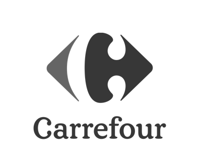 The Beyonders - Carrefour logo - BW