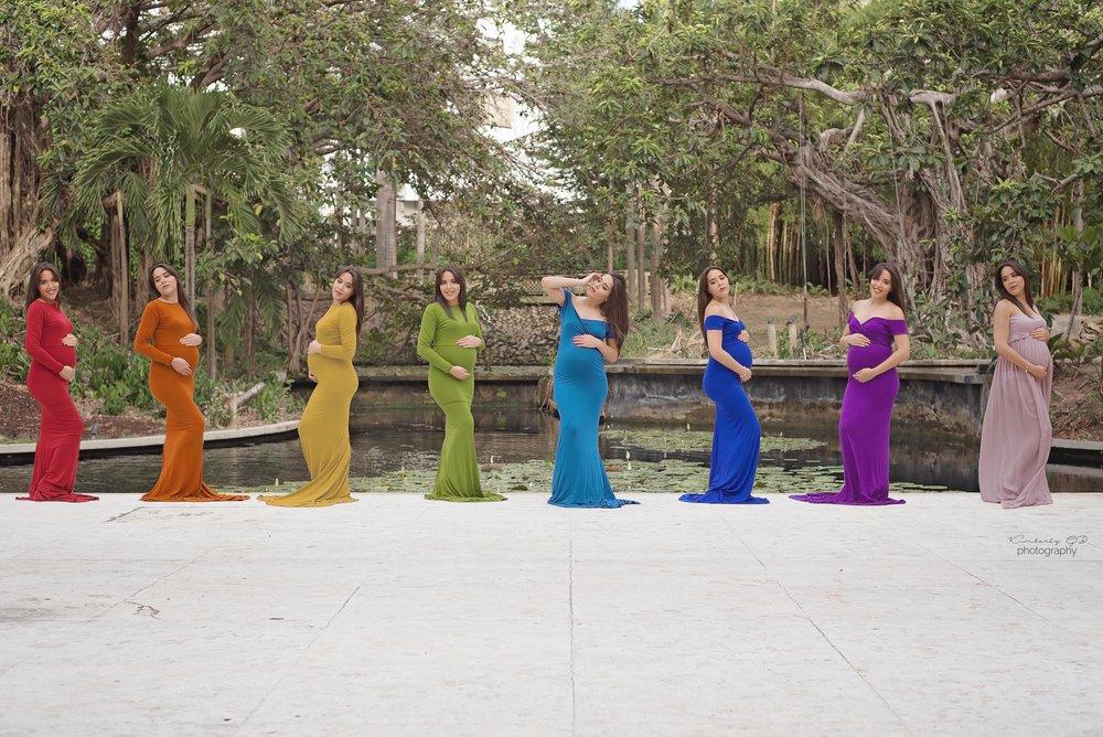 Rojo, símbolo de  fuerza . Anaranjado, símbolo de  sanidad . Amarillo, símbolo de  alegría . Verde, símbolo de  crecimiento . Azul, símbolo de  tranquilidad . Violeta, símbolo de  fe .