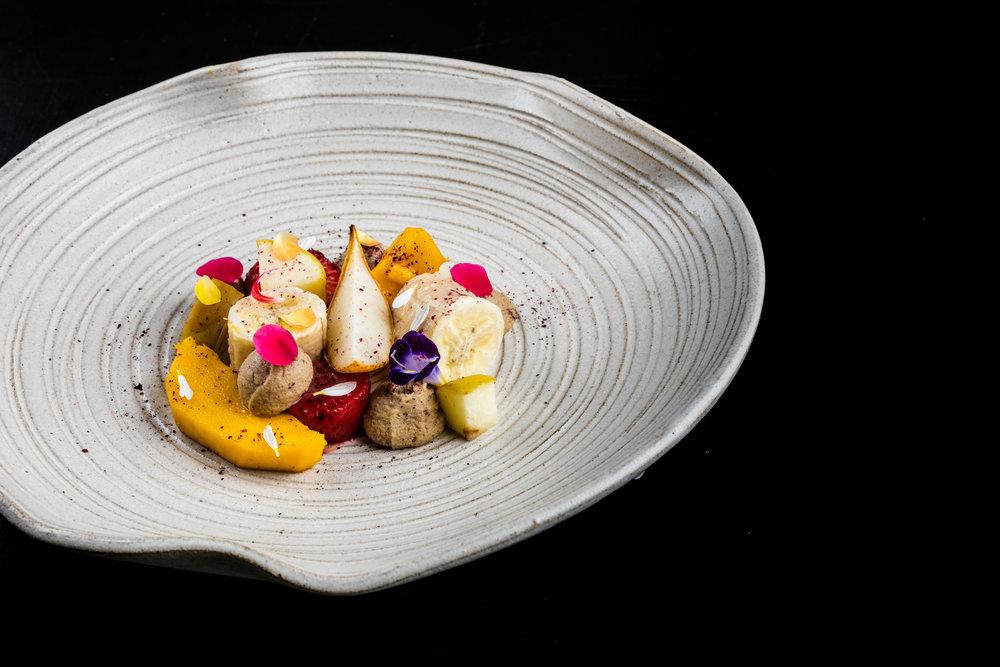 Salada de frutas morna