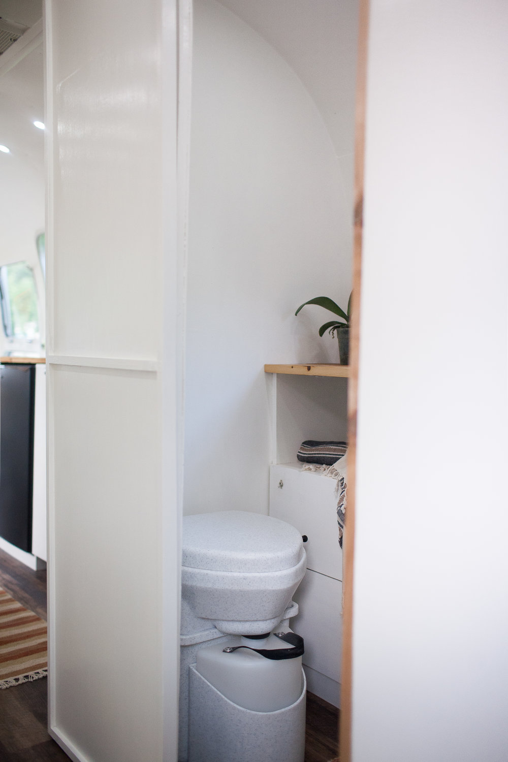 Nature's Head Composting Toilets are our preferred toilets for our renovations. Composting is not only better for the environment, but enable you to go off grid for longer. Click to  buy .