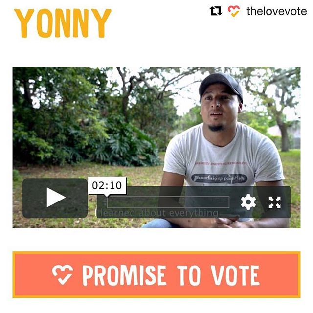 Check out CEF initiative, @thelovevote's, featured video & mover, Yonny! #thelovevote #civicengagementfund ・・・ Yonny came to the US as an unaccompanied minor, and built a life for himself. He can't vote, so he's moving others to do so. 💗🗳#thelovevote #dreamactnow  Follow the link to his story here: https://www.thelovevote.org/campaign/yonny/