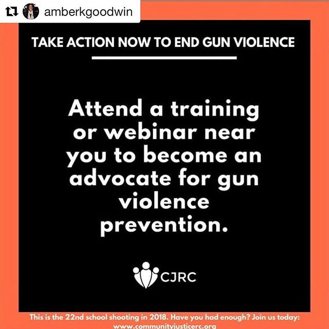 Want to take some action to end gun violence? Take a look at what CEF-sponsored org, @cjrcoalition & founder @amberkgoodwin, is doing to prevent gun violence and get involved! #gunreformnow #CJRC #civicengagementfund ・・・ 4 ways YOU can make a change today to end gun violence. #endgunviolence #peacemakers #noNRA