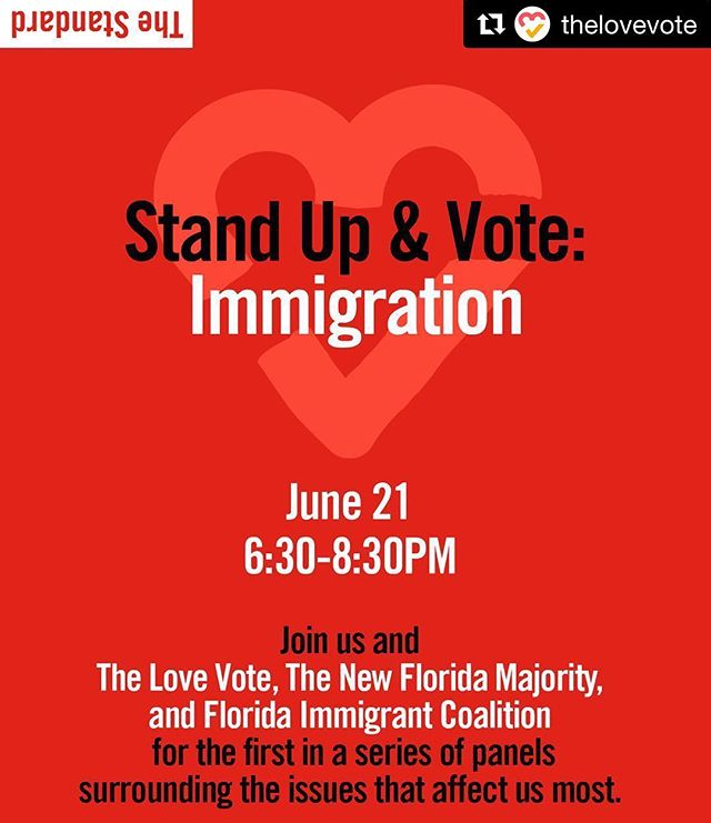 join CEF initiative @thelovevote and @newflmajority and @flimmigrant on June 21st @ 6:30pm for this amazing panel! 😍🍿🎥 ・・・ If you're in Miami, please join us! Link to RSVP in bio. 🎥 🍿 💜 #thelovevote #standupandvote