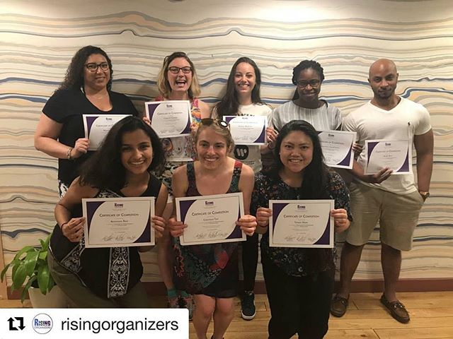 woah, check out CEF-sponsored org @risingorganizers's Spring 2018 class of fellows! Congrats on completing your fellowship! 🎉 ・・・ Congratulations to our Spring 2018 class of fellows, who completed the fellowship program yesterday! We can't wait to see what you tackle next.