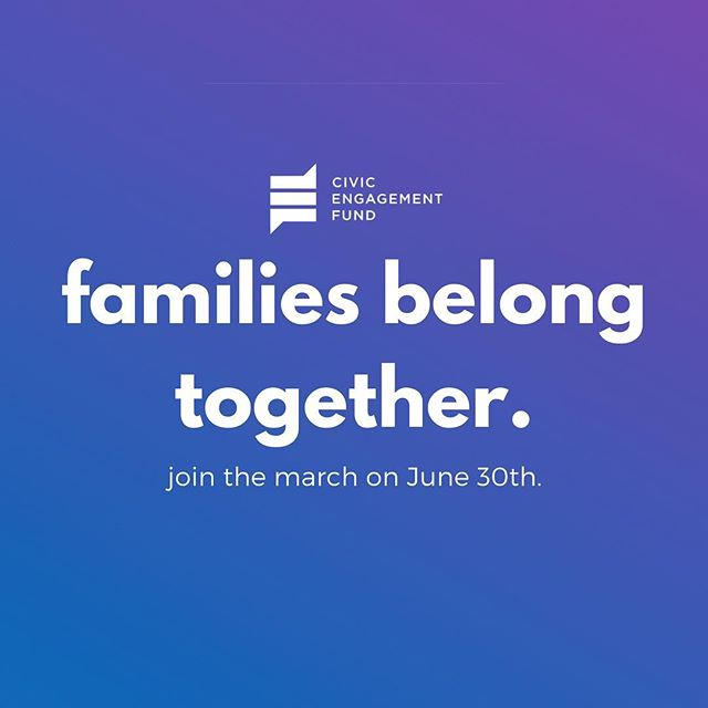 Head to familiesbelongtogether.org & find a rally in a city near you!  #familiesbelongtogether #civicengagementfund