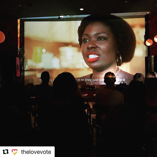 Take a look at this awesome pic from CEF initiative @thelovevote's screening & discussion last night! We make change happen through LOVE. 🧡💛 ・・・ We're very grateful to The Standard, the New Florida Majority, Florida Immigrant Coalition, and Mi Familia Vota for STAND UP & VOTE: IMMIGRATION! A night of sharing stories and planning to create change, together. ❤️🗳✨ #thelovevote