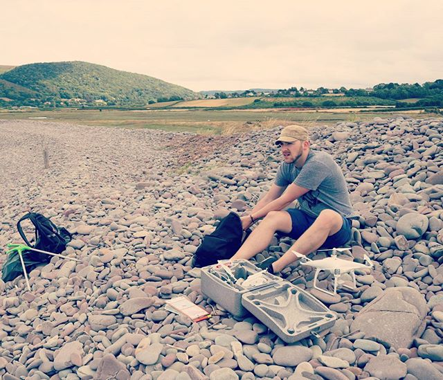Setting up our #drones at #bossingtonbeach for our survey and #beachclean. #dronesforgood #plasticpollution