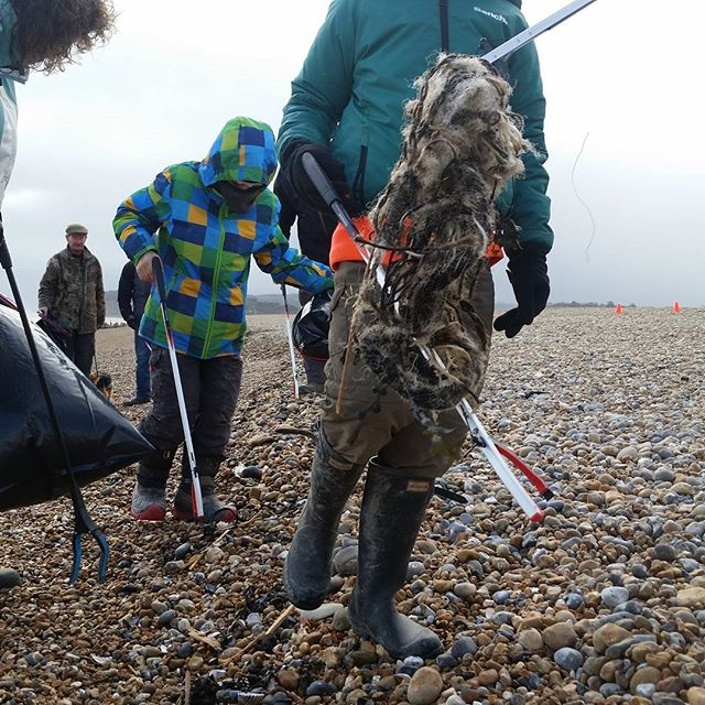 A Lethal mix of #fishing lines and #nets found on a beach in East Sussex.  Scientists estimate 100,000 marine creatures die a year owing to #ghostgear #conservation #visionfromtheskies #plastic pollution