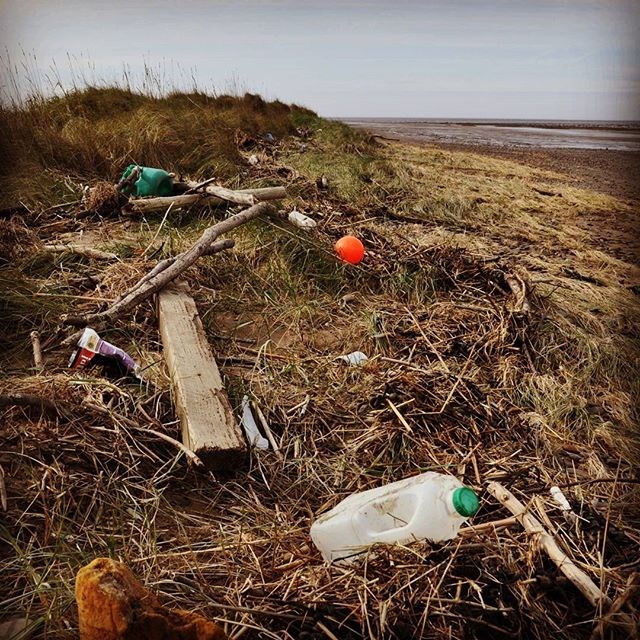 #theplastictide washing up on our #beaches.  This was taken at Steart, near the mouth of the river Parrett. We think much of this #plasticpollution was washed out from the river. #dronesforgood #drones
