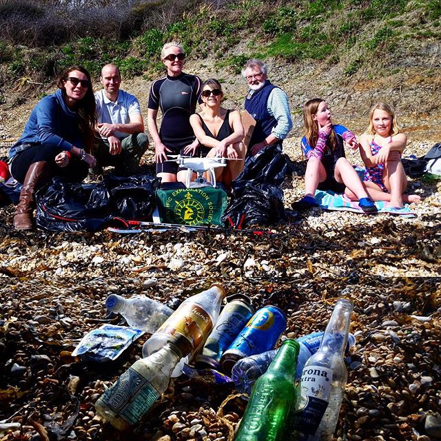 Day One complete! Many thanks to the Scientific Exploration Society @sesexplore for coming down for our successful launch on Ringstead Beach.