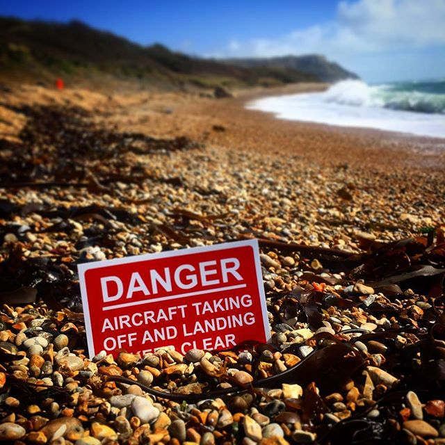 Luckily the beaches are pretty quiet in April, but warning signs all over the place are still a critical part of flight protocol! #dangerzone #dronepilot #flightzone #visionfromtheskies #safetyissexy #healthandsafetyrules