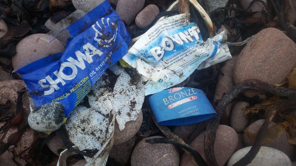 The Showa fisherman's glove. These were depressingly common on Scottish Beaches.
