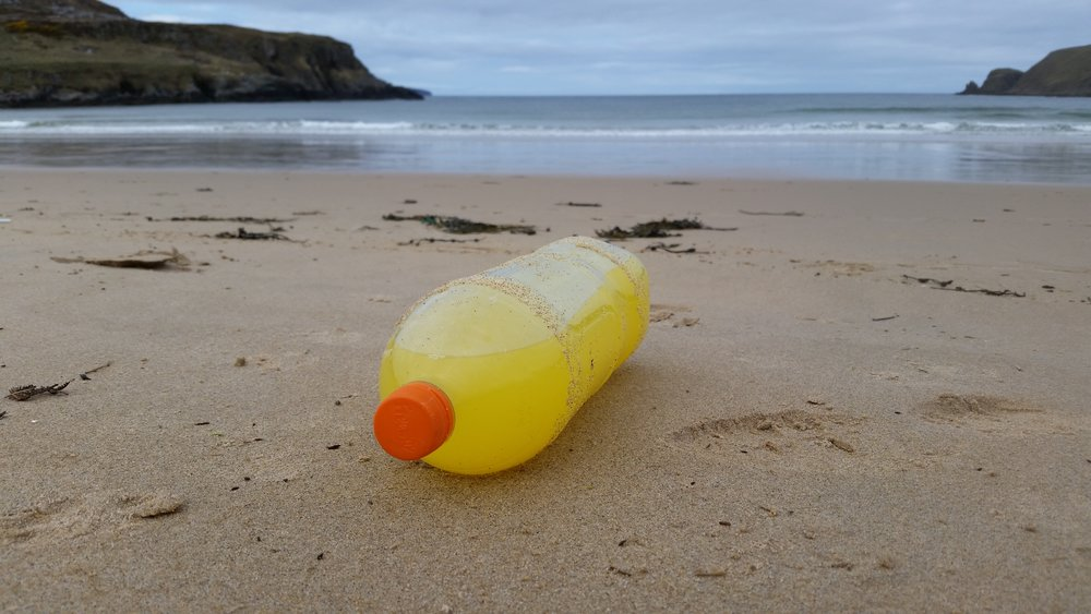 A full fanta bottle washed up on Farr Bay - why?