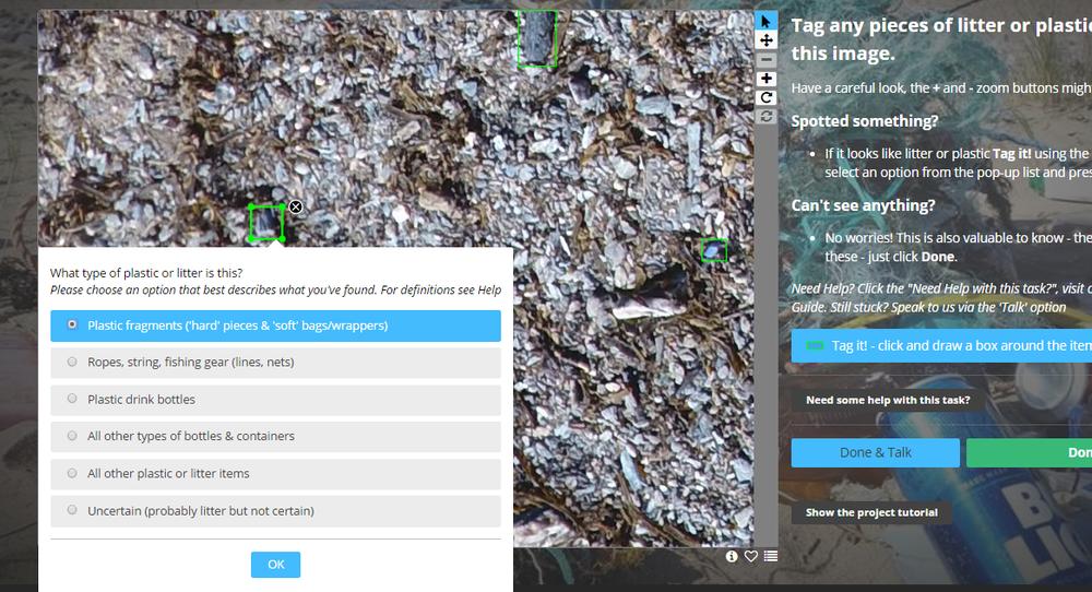 Tagging plastics online!