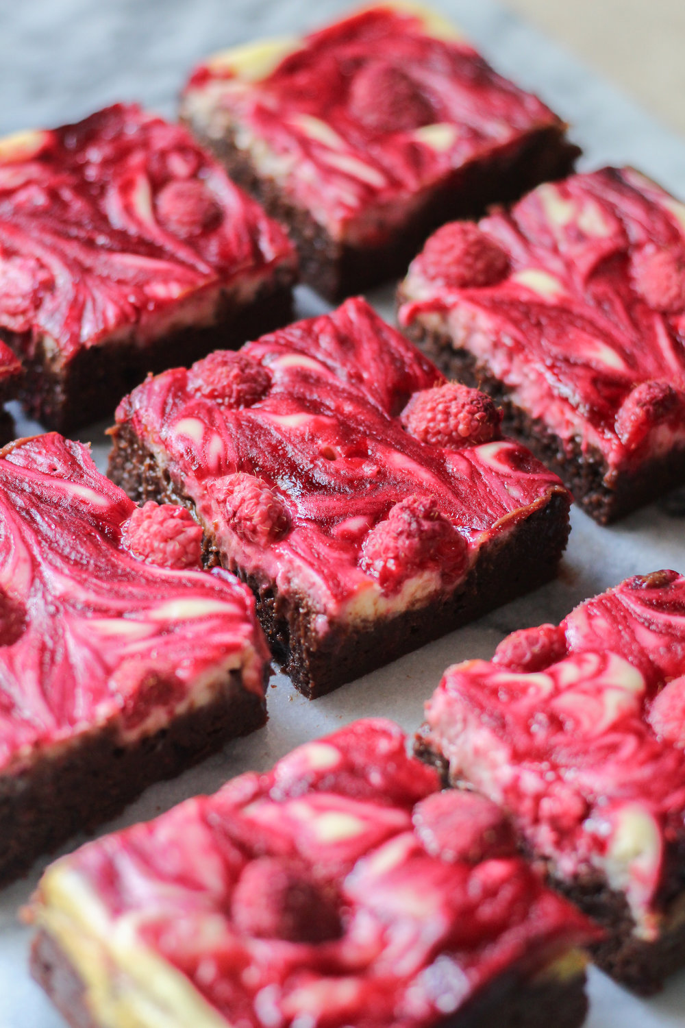 Raspberry Swirl Cheesecake Brownies