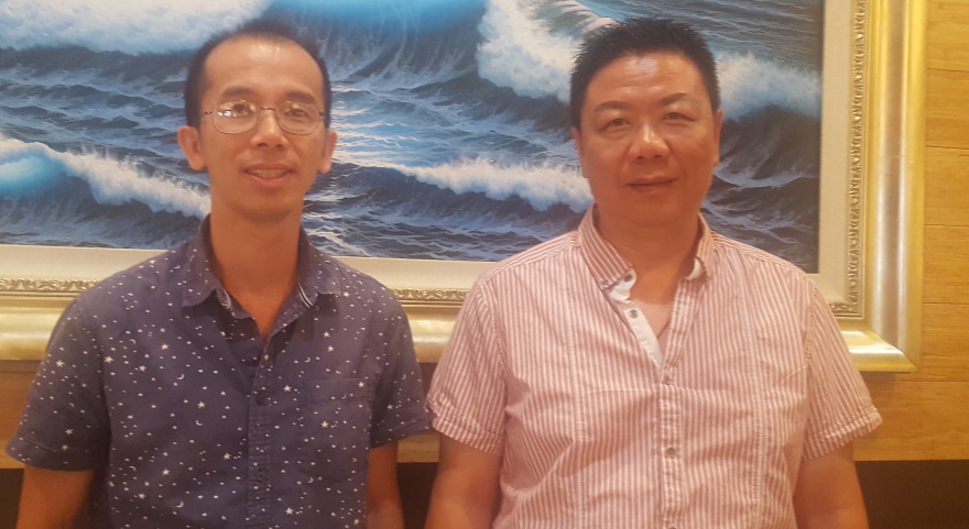 Zig Jiang and Tony Xu are part of a Chinese-American organization that threatened a lawsuit if Arcadia didn't shift from an at-large to a district election system. Photo by Renee Gross.
