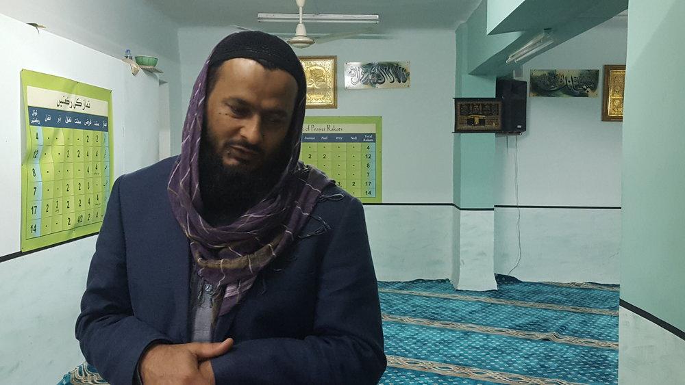 Iran Qaizer, the Imam of Masjid Dar Ul Aman Mosque,near Omonia Square, Athens. (Renee Gross)