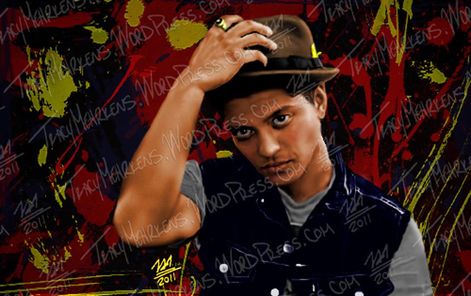 Copy of Bruno Mars. Digital. 6.5x10.25 in. 2011.