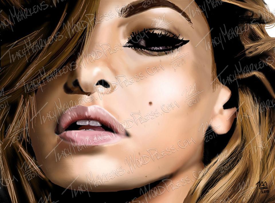 Copy of Eva Mendez. Digital. 7.25x10 in. 2010.