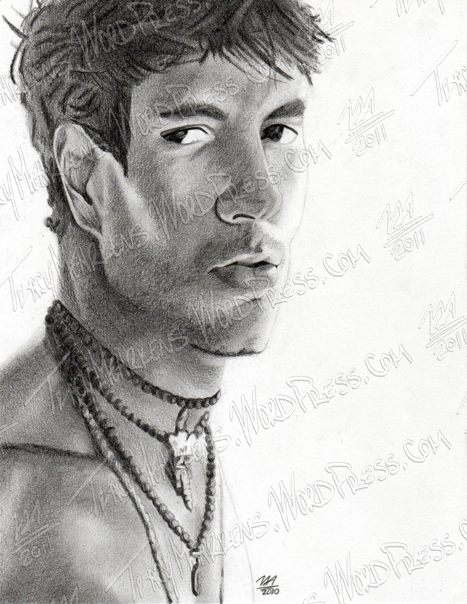 Copy of Enrique Iglasias. Graphite on Paper. 6.75x9 in. 2010.