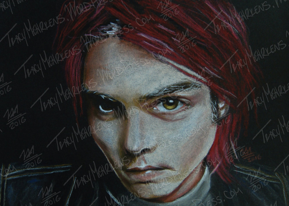 Gerard Way. Pastel on . 2016.