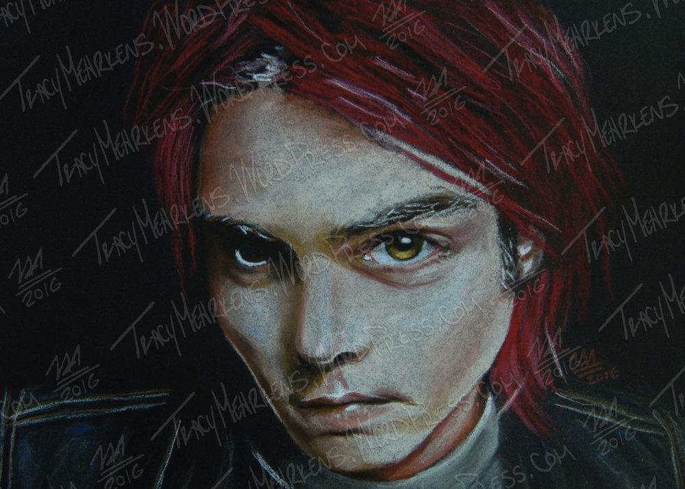 Copy of Gerard Way. Pastel on . 2016.