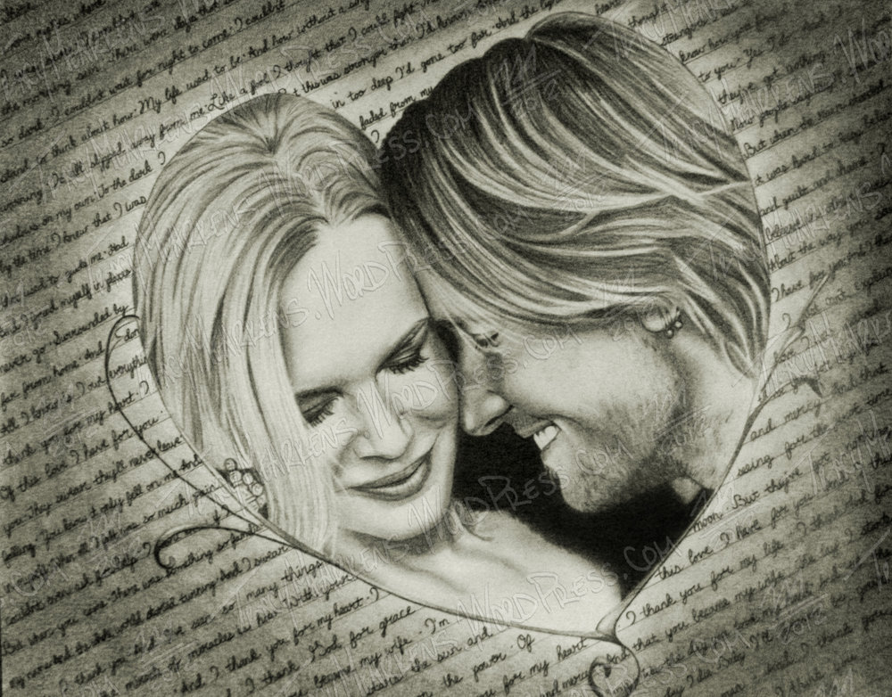Copy of Keith & Nicole. Graphite on Paper. 14.25x11.25 in. 2012.