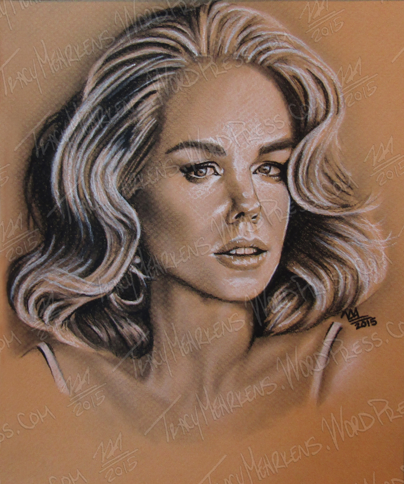 Nicole Kidman. Charcoal on Paper. 9.5x11 in. 2012.