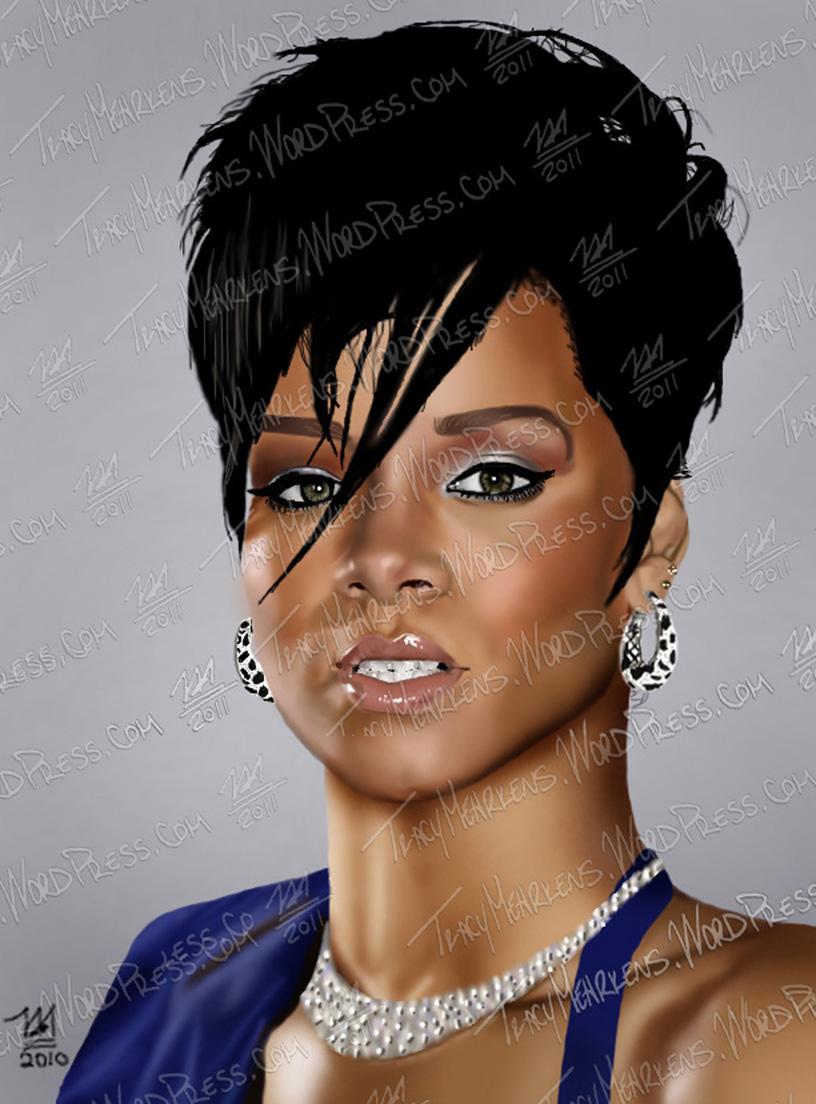 Copy of Rihanna. Digital. 7.5x10.5 in. 2010.