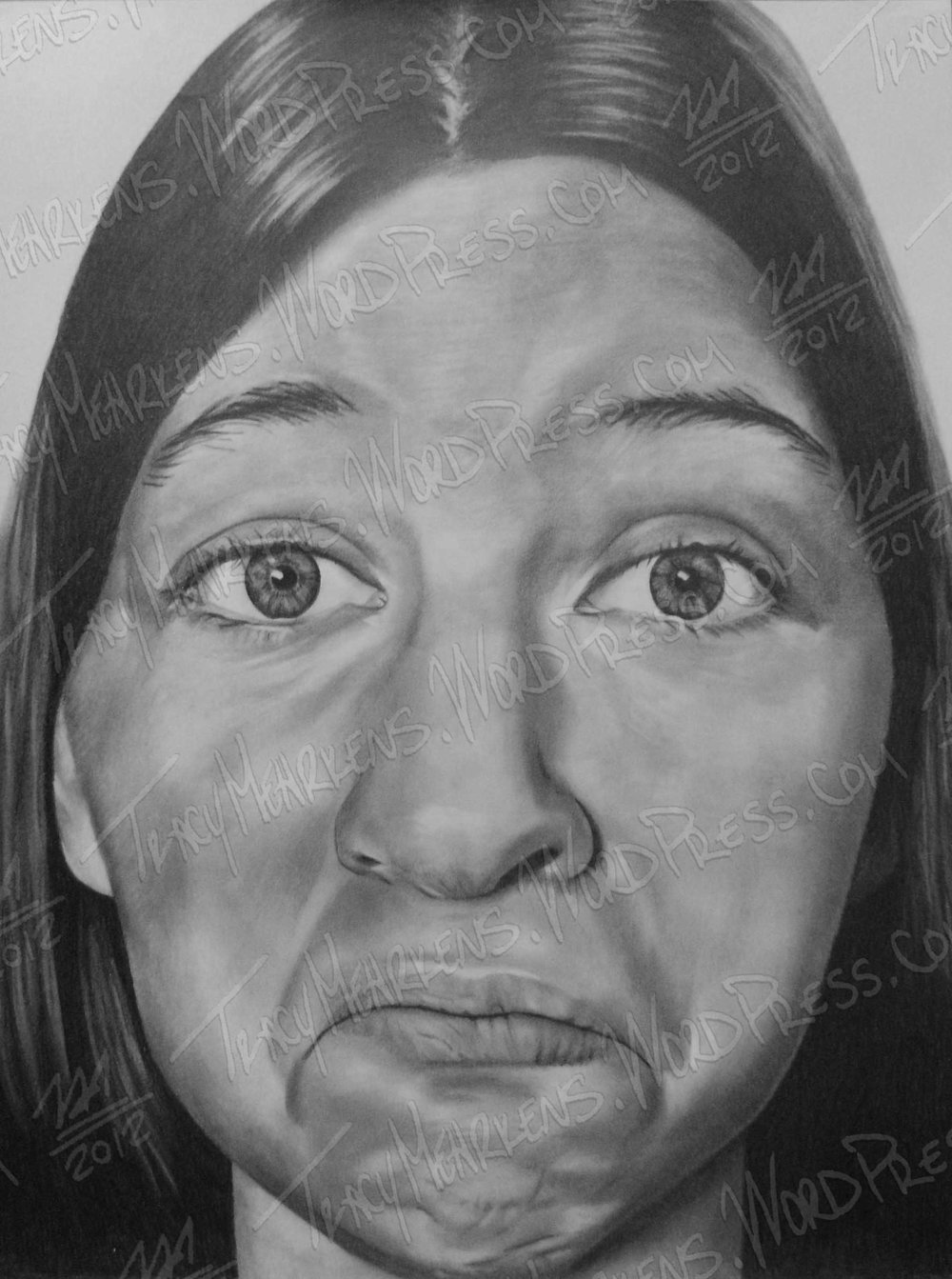 Copy of Self. Graphite on Paper. 18x24 in. 2012.