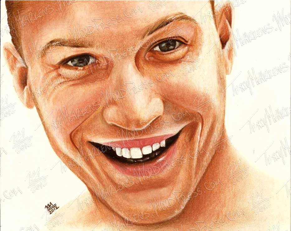 Tom Hardy. Pastel on Paper. 2012.
