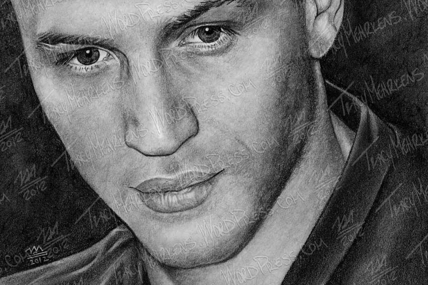 Copy of Tom Hardy. Graphite on Paper. 9x6 in. 2012.